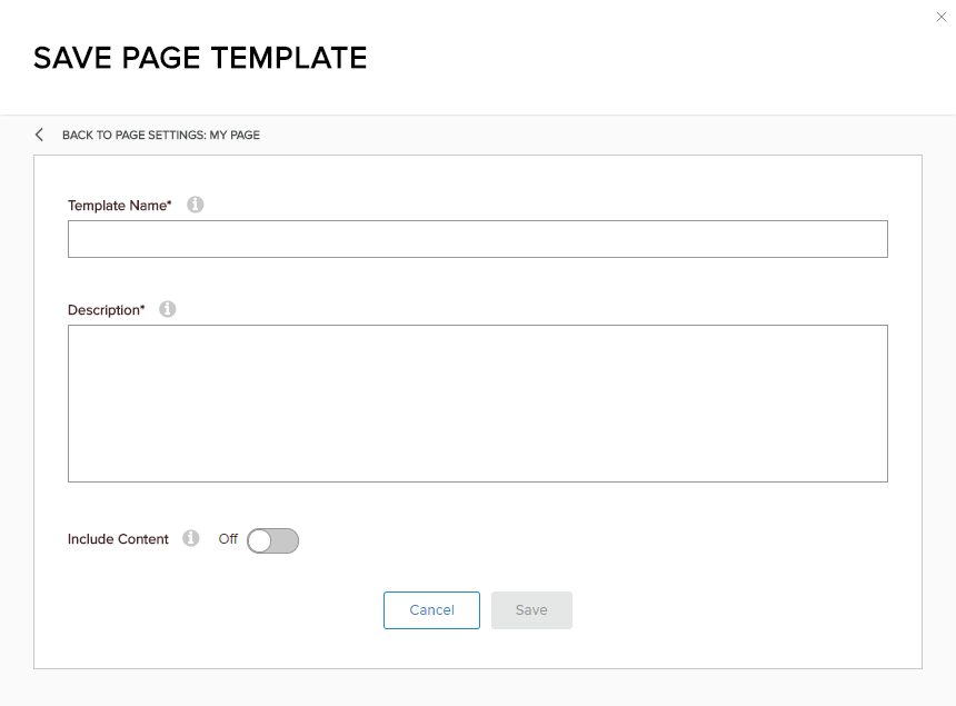 Save Page Template into XML file